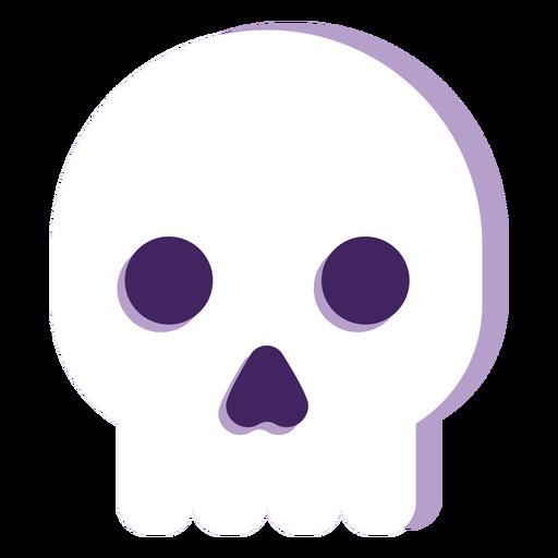Halloween com cabeça de fantasma achatada