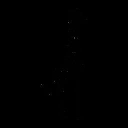 Jirafa elegante negro