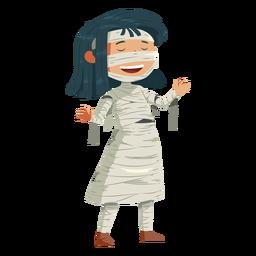 Chica vestida con traje de momia