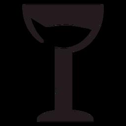 Glass of wine black