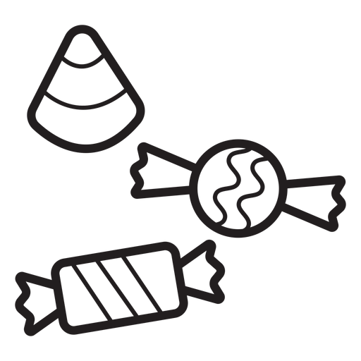Halloween candy line icon Transparent PNG