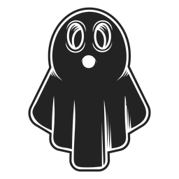 Halloween ghost icon black