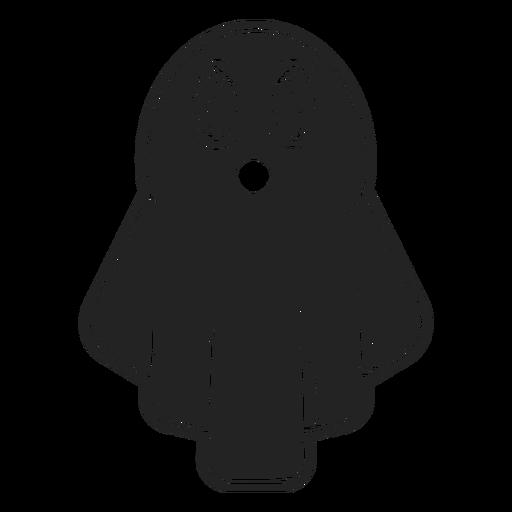 Ícone de fantasma de Halloween preto