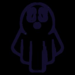 Línea de icono de fantasma de Halloween