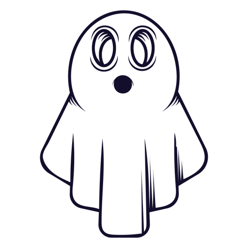 Halloween ghost icon line Transparent PNG