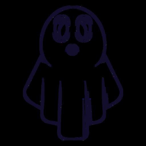 Linha de ícone de fantasma de Halloween