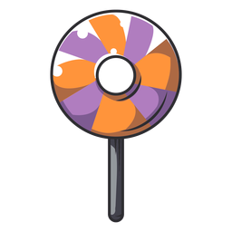Halloween lollipop cartoon icon