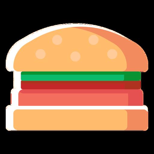 Hamburger burger flat icon