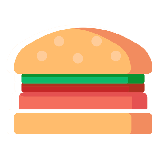 Icono plano de hamburguesa hamburguesa