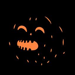 Ilustração de abóbora esculpida feliz