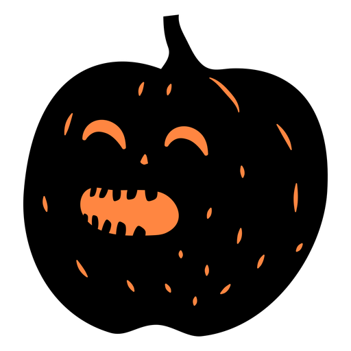 Happy carved pumpkin illustration