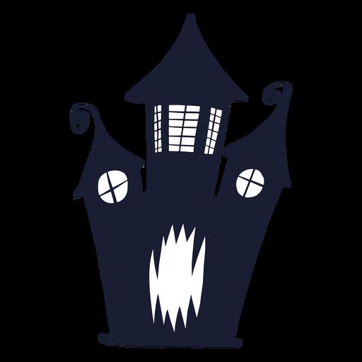 Silueta de cara de casa embrujada
