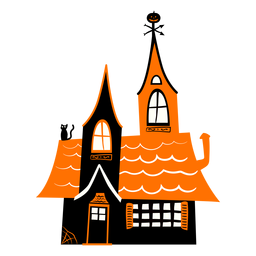 Haunted house illustration haunted
