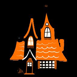 Ilustración de casa embrujada embrujada
