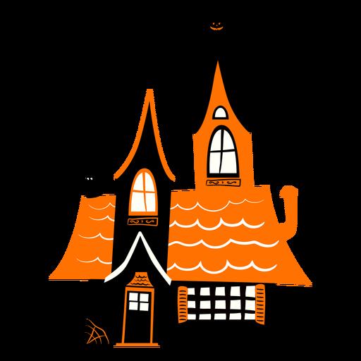 Ilustración de la casa embrujada embrujada