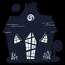 Silueta de la casa embrujada