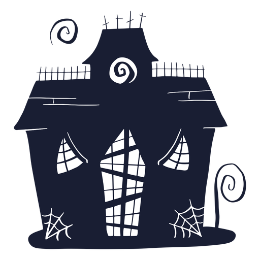 Haunted house silhouette Transparent PNG
