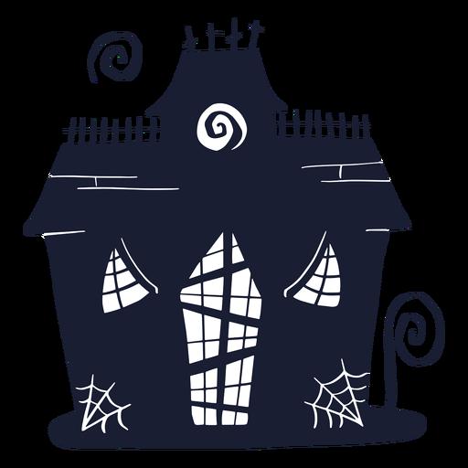 Silhueta de casa assombrada