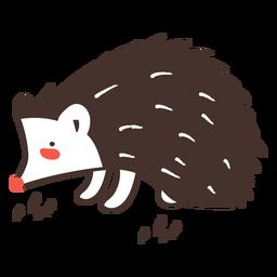 Erizo animal de dibujos animados erizo