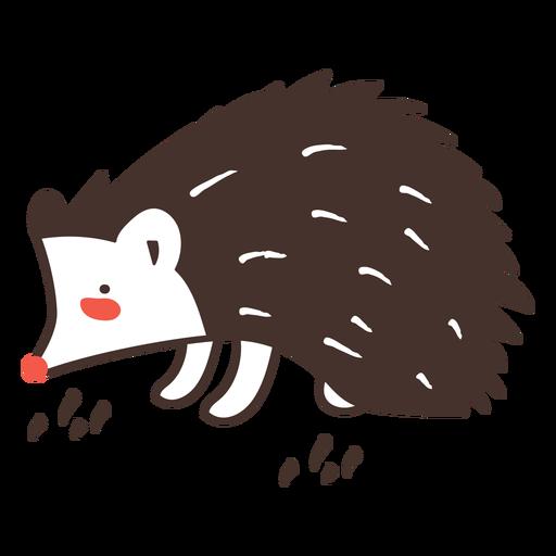 Erizo de dibujos animados de animales erizo