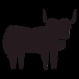 Highland gado animal preto
