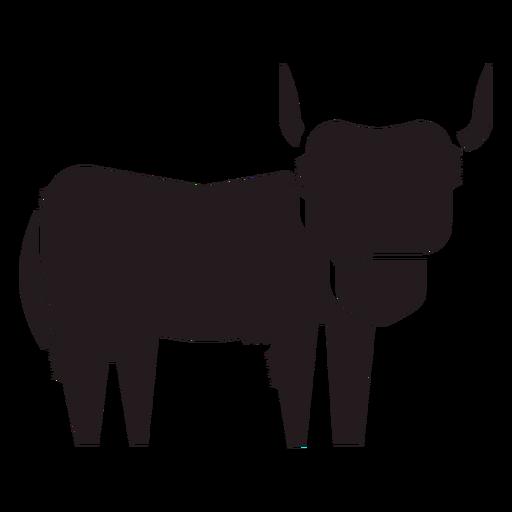 Highland ganado animal negro