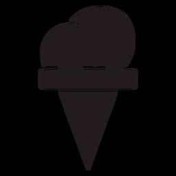 Cono de helado negro