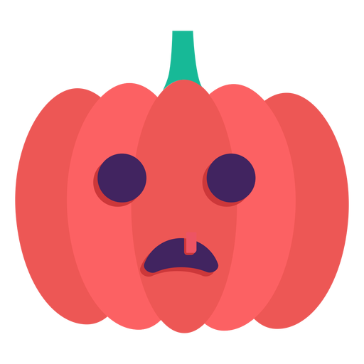 Jack o lantern flat halloween