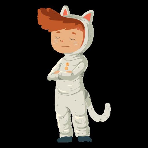 Kid wearing cat costume Transparent PNG
