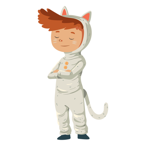Kid wearing cat costume