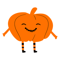 Kid wearing pumpkin costume illustration