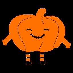 Kid wearing pumpkin costume illustration