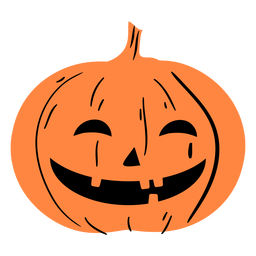 Laughing carved pumpkin illustration