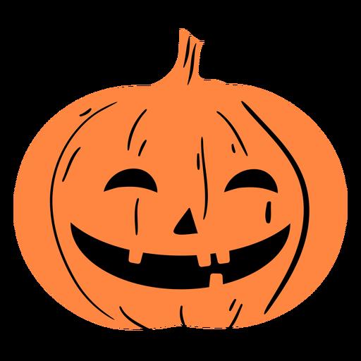 Laughing carved pumpkin illustration