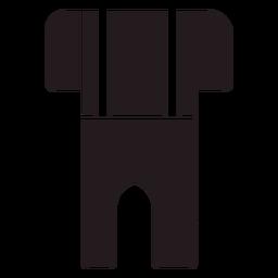 Lederhosen ropa tradicional negro