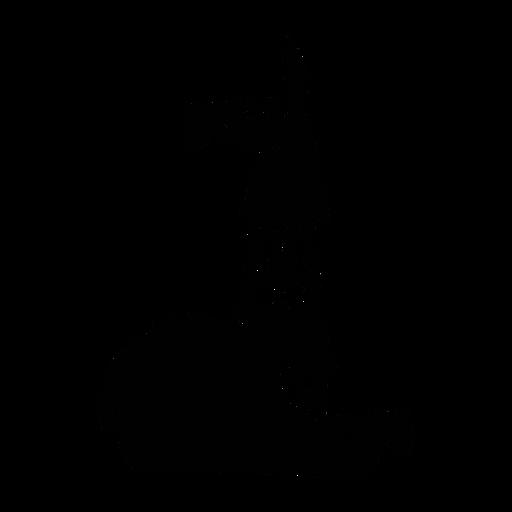 Lhama sentado elegante preto
