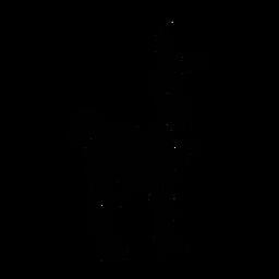 Llama de pie elegante negro