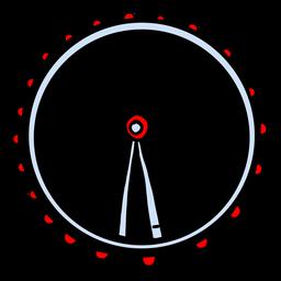 London Auge Riesenrad Silhouette uk Elemente