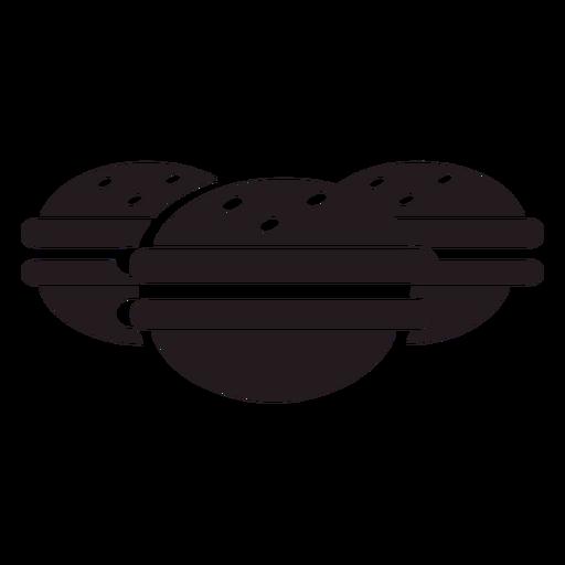 Mini burgers black
