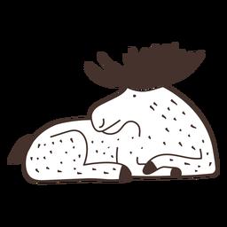 Moose laying cartoon