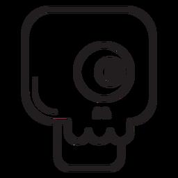 One eyed skull line icon