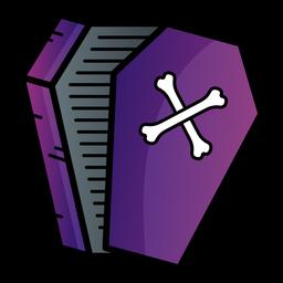 Icono de dibujos animados de ataúd abierto