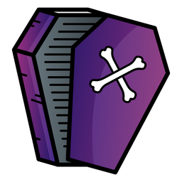 Open coffin cartoon icon