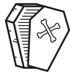 Open coffin line icon