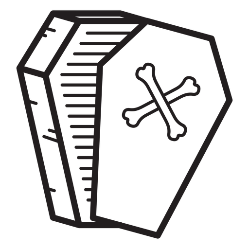 Open coffin line icon