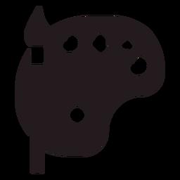 Pincel y paleta negra