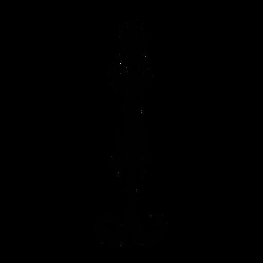 Paradise flycatcher bird stylish black