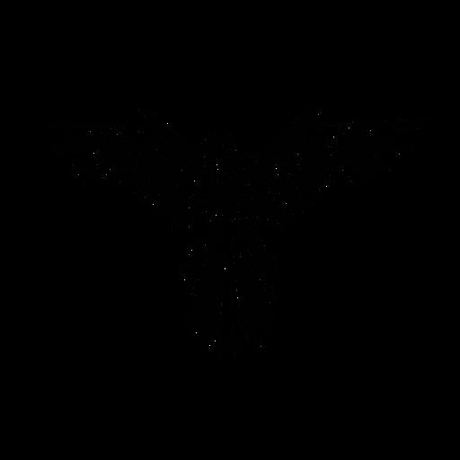 Loro extendiendo alas elegante negro
