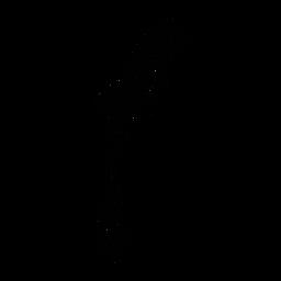 Papagaio em pé ainda elegante preto