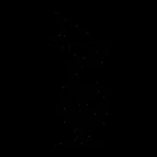 Pelican comer peixe elegante preto Transparent PNG
